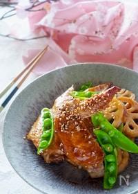 『【フライパンで簡単】鶏手羽先とレンコンの照り焼き』