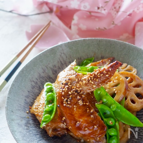 【フライパンで簡単】鶏手羽先とレンコンの照り焼き