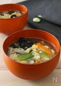 『野菜たっぷり☆八宝菜スープ』
