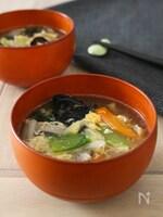 野菜たっぷり☆八宝菜スープ