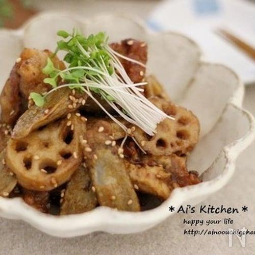 黒酢のコクが決め手*常備菜を使って*鶏唐と根菜の南蛮酢炒め*