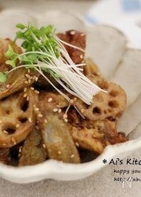 『黒酢のコクが決め手*常備菜を使って*鶏唐と根菜の南蛮酢炒め*』