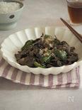 豚レバーの胡麻味噌炒め