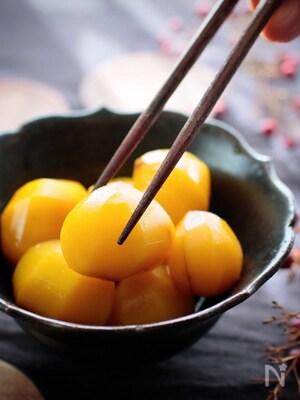 冷凍栗で作る!簡単・栗の甘露煮(栗きんとん用に最適)