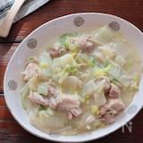 白菜と鶏肉の豆乳クリーム煮(生クリーム・ホワイトソース不要)