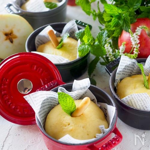 材料3つだけのパン+りんご♡丸ごとりんごの形のりんごパン