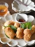 魚肉ソーセージとチーズのフライ