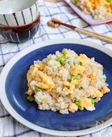絶品お昼ごはん♡『しらすと枝豆と玉子の和風チャーハン』