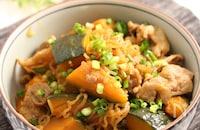 肉かぼちゃ フライパン炒め煮