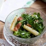 程よいクセを味わう『春菊と長いもとカリカリベーコンのサラダ』