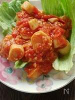 エリンギのトマト煮丼