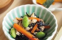 枝豆とひじきの鶏サラダ -離乳食完了期から-