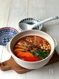 『美ボディ鍋』*鯖缶と大豆のトマトチリ鍋*