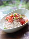 夏野菜とツナのにゅうめん柚子胡椒風味