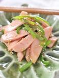 魚肉ソーセージとピーマンのオイスター炒め