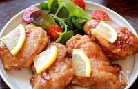 【鶏もも肉のレモンバターソース焼き】さっぱりコクうま味!!