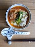 レンジで作る♡豚キムチスープ