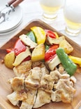 焼き野菜と鶏肉のソテー