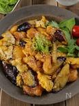 【ご飯が進む】鶏胸肉と茄子たまごの生姜香るさっぱりオイ照り