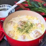 *白菜と鶏肉のミルクチーズ鍋*とろとろ白菜で温まります!