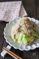 レンジで簡単5分♪豚肉とキャベツの蒸しサラダ!温でも冷でも