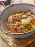 *白菜と鶏肉の麻婆風ピリ辛とろみ煮*