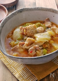 『*白菜と鶏肉の麻婆風ピリ辛とろみ煮*』