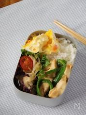 【15分弁当】鶏むね肉のやわらか青椒肉絲風弁当(4品)