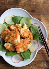 『ビタミン野菜と鶏むね肉で元気とキレイ♪鶏天風フライパン焼き』