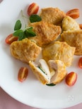 とろ〜りチーズとバジルのチキンピカタ