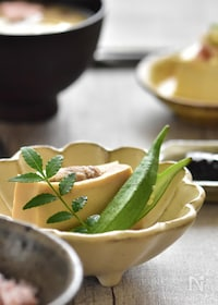 『基本の高野豆腐の肉詰め。』
