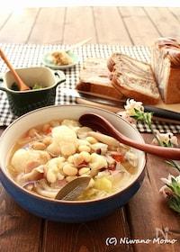 『カリフラワーと豆のスープ』