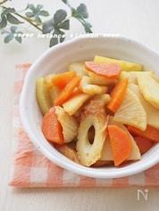 お弁当に。根菜とちくわの和風カレー炒め