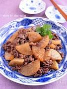 大根と牛肉の甘辛炒め煮
