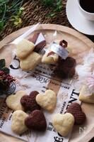 ホワイトデーに♡とろける食感♪2色のハート生チョコクッキー