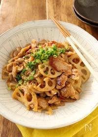 『常備菜*豚肉と蓮根の味噌炒め』