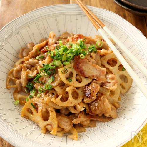 常備菜*豚肉と蓮根の味噌炒め