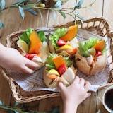 もっちり生地に野菜たっぷり♡焼きカレーパン
