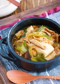 『煮るだけ5分♪『豚バラ豆腐の中華風とろみ煮』』