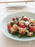 生活習慣病予防に。スナップえんどうとホタテの梅のりサラダ