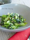 青菜と韓国海苔のナムル
