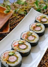 『*魚肉ソーセージと海苔の玉子巻きキンパ*』