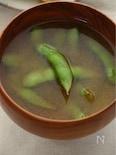 ダシいらず☆枝豆のにんにく味噌汁
