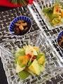 アボカドとレタスとタマゴのピリ辛サラダ