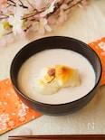 桜とミルク餡のお汁粉