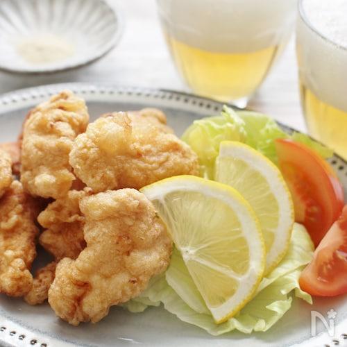 鶏ささみ肉のゆず胡椒風味のフリッター