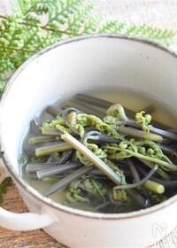 『わらびの白だしさっと煮*簡単便利な保存法』