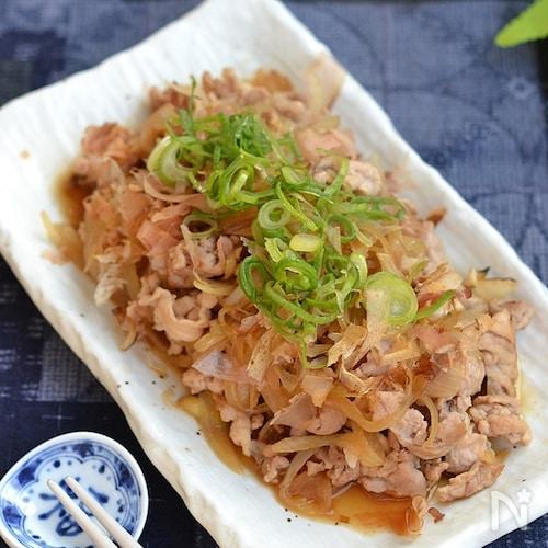 豚こま切れ肉と玉ねぎの甘辛炒め【作り置き】