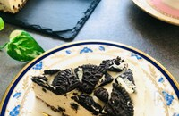 贅沢♡ココアクッキーづくしのレアチーズケーキ