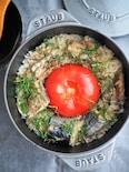 サバ缶と丸ごとトマトの炊き込みごはん